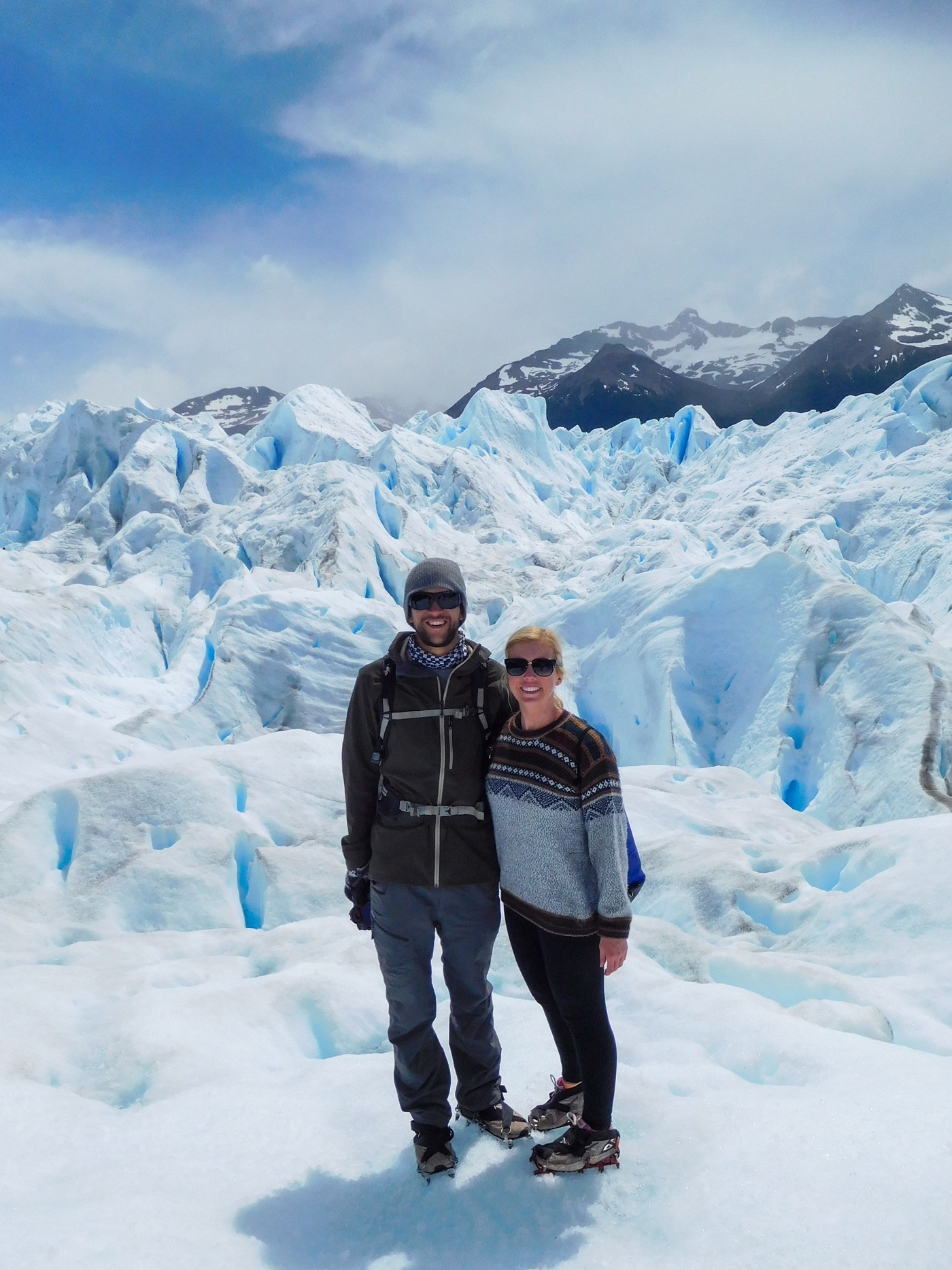 Lauren and I on the glacier