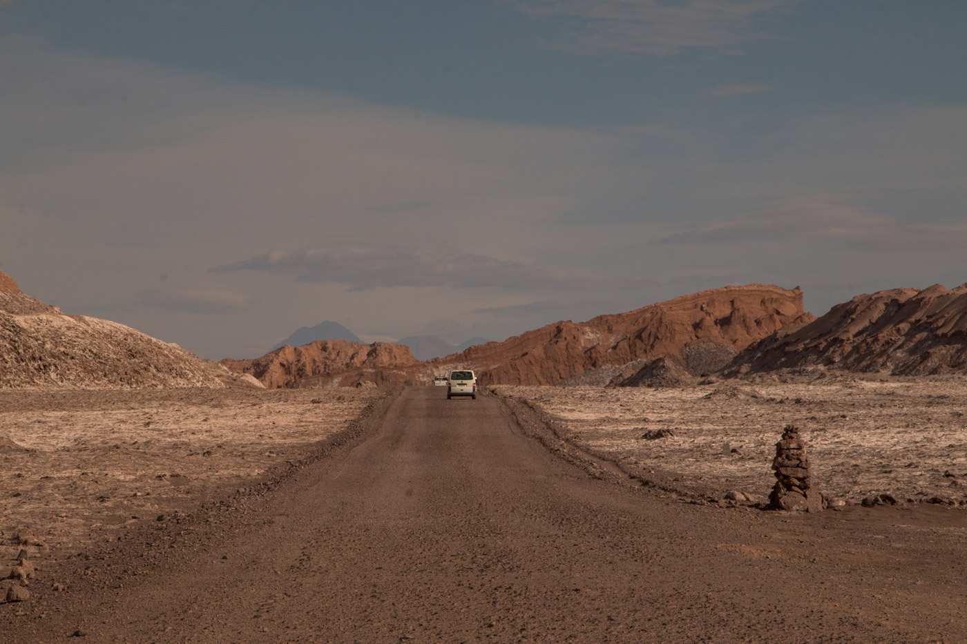 Driving through the Atacama desert