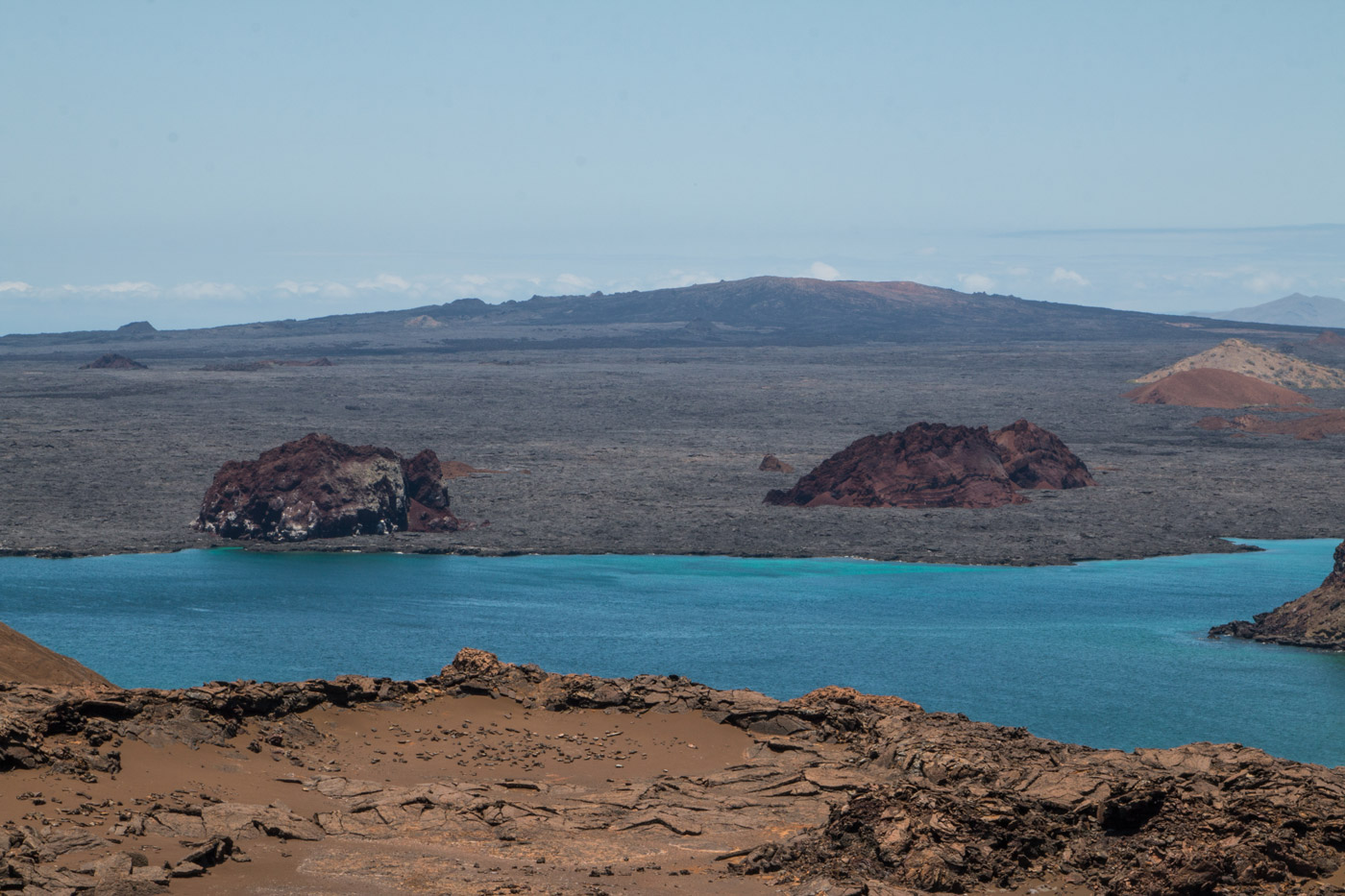 Unusual landscape of Bartolome Island