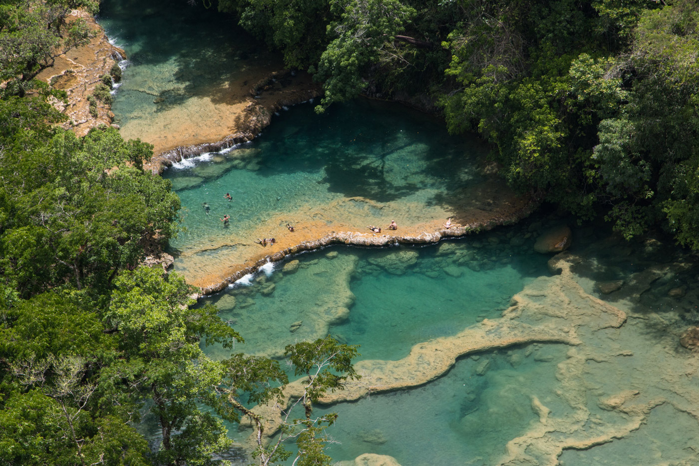 Semuc Champey from above