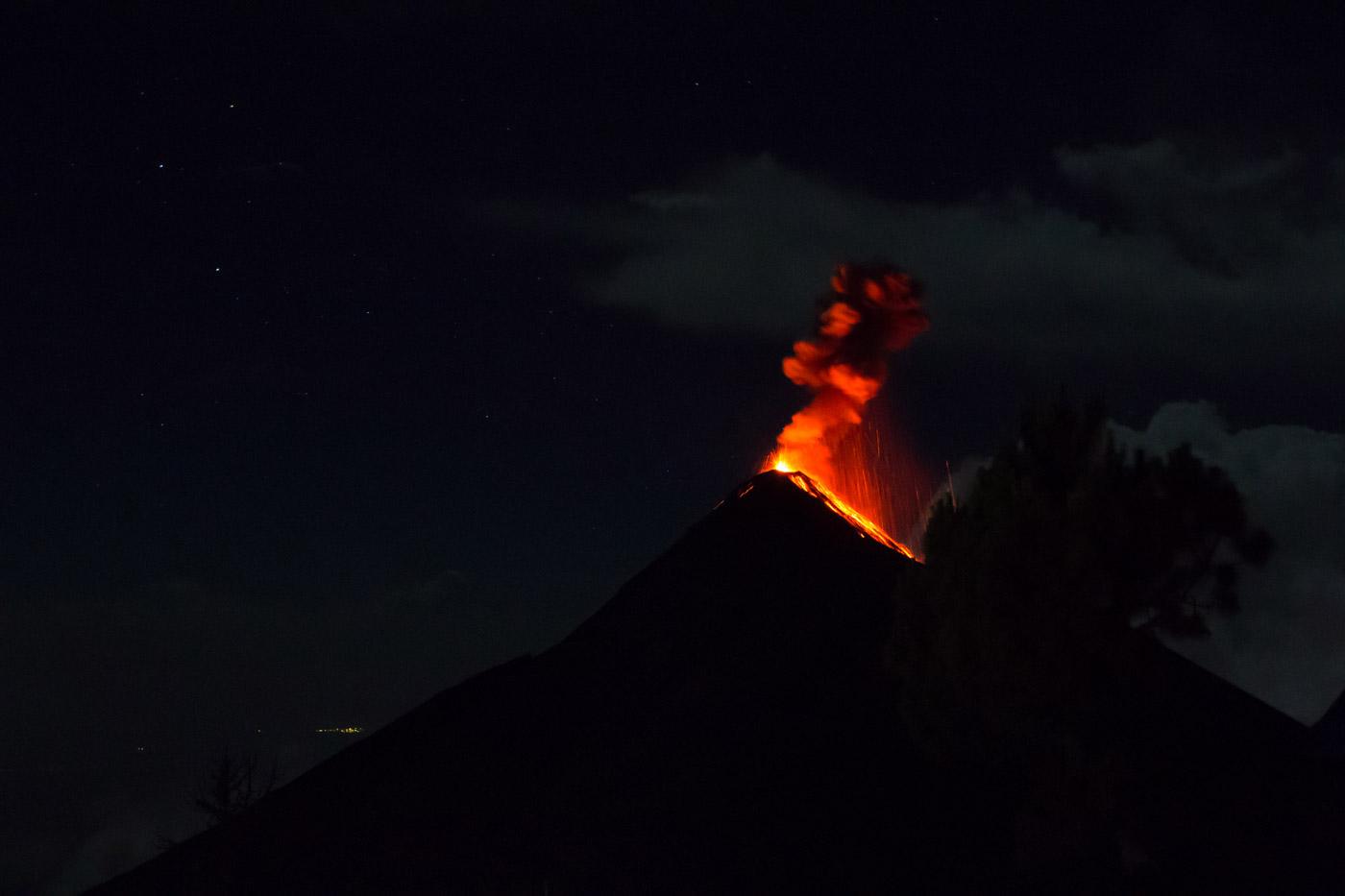 Fuego erupting