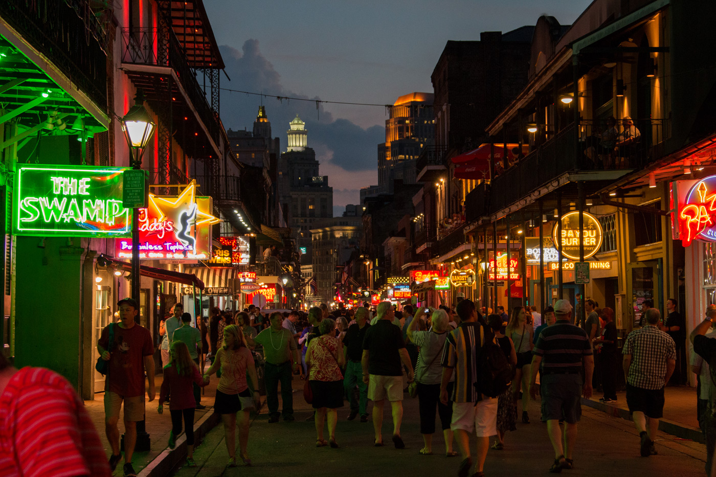 Bourbon street nightlife