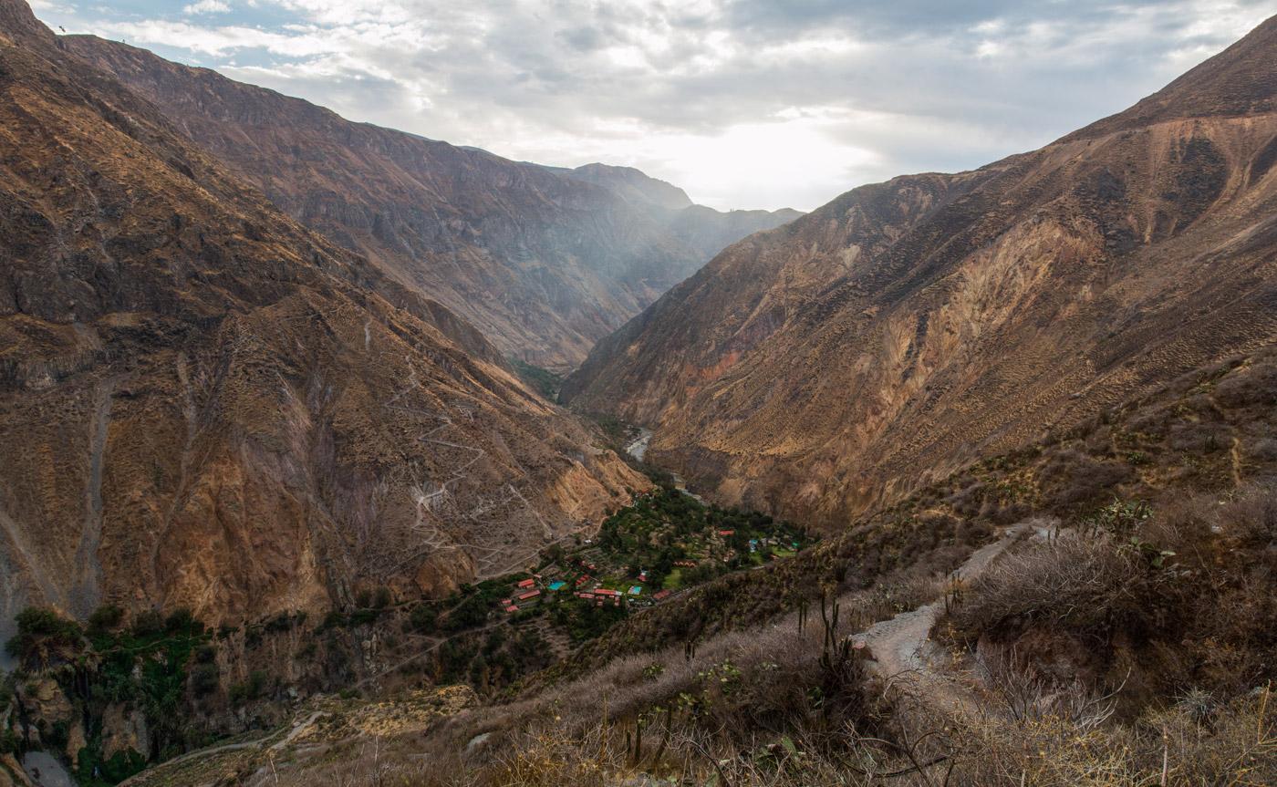 Walking through Colca Canyon