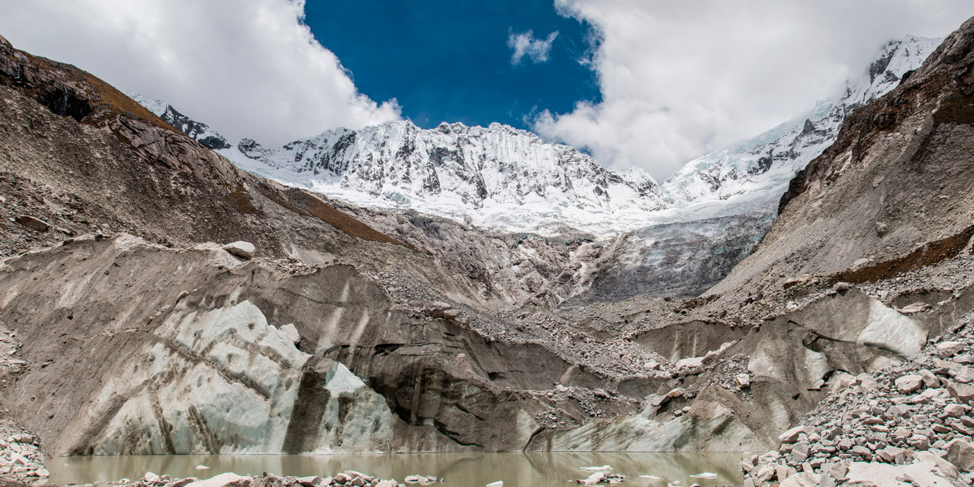The ice climbing backdrop