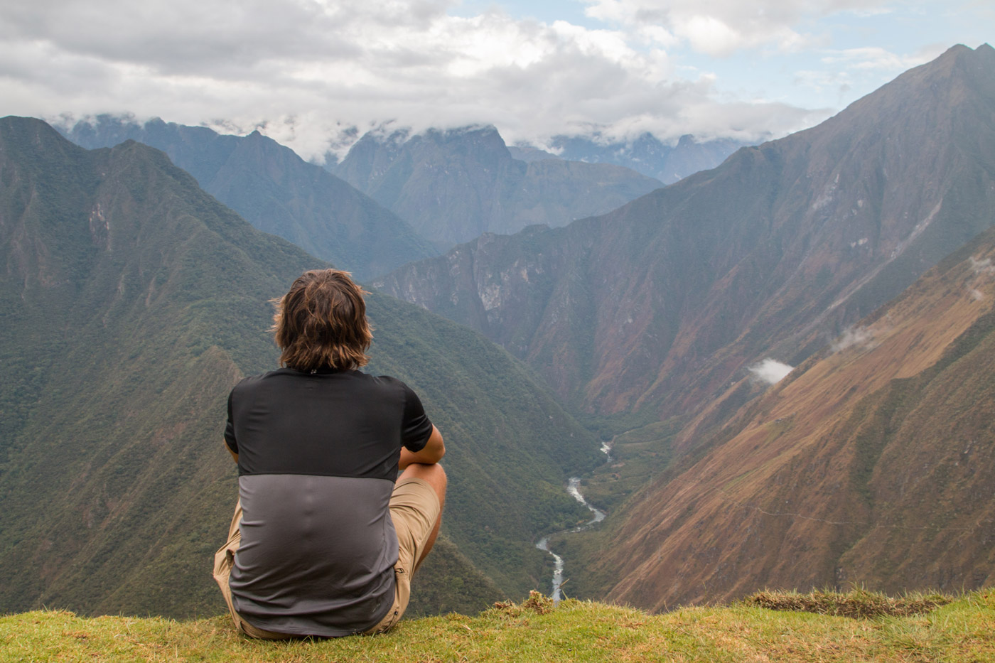 Stopping to take in the views along the Inca Trail