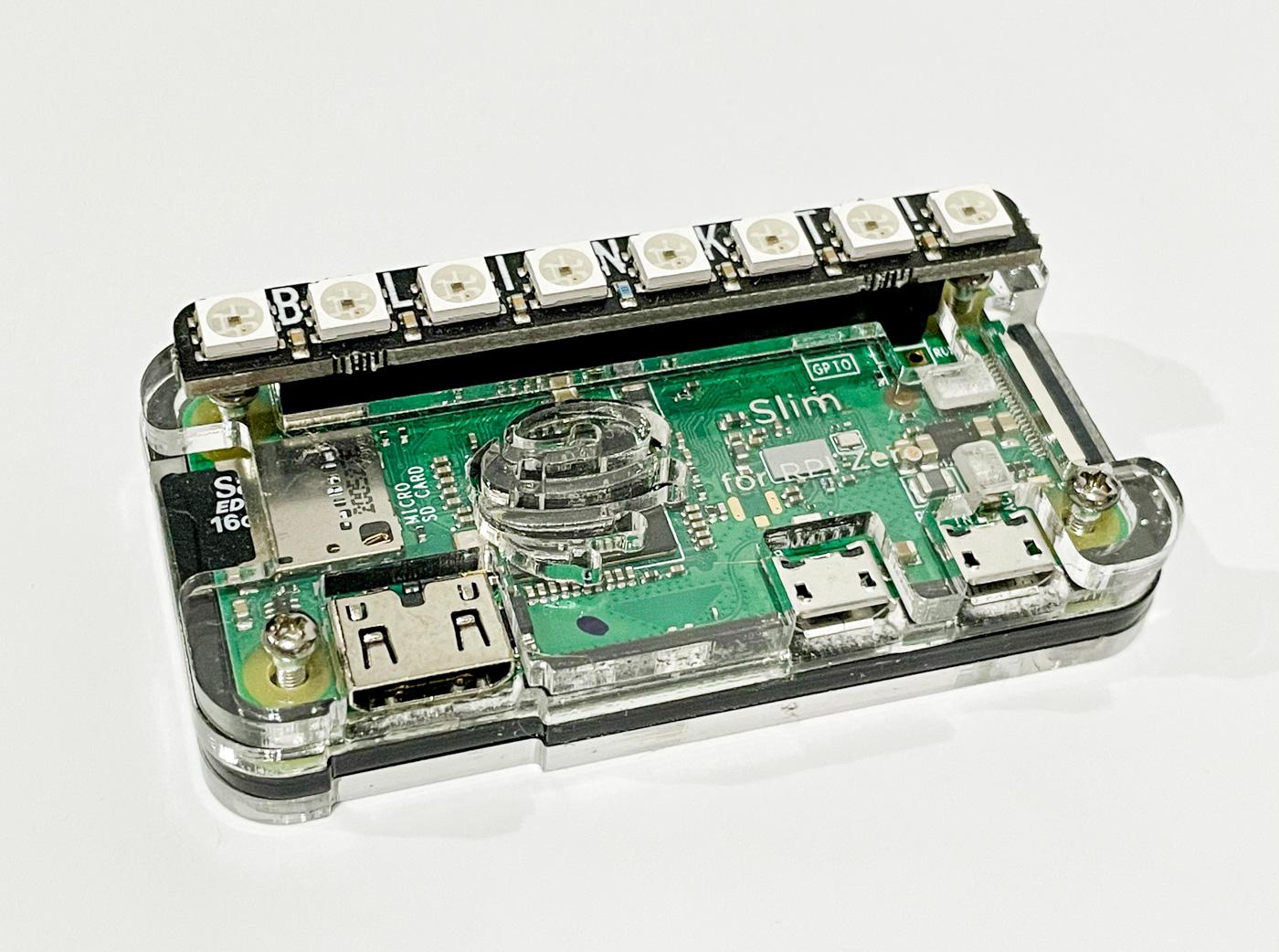 Raspberry Pi Zero with Pimoroni LEDs