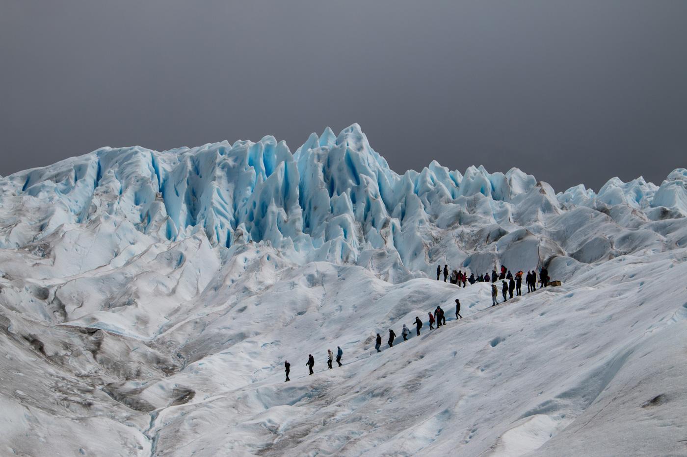 Heading off to explore the Perito Moreno glacier on foot