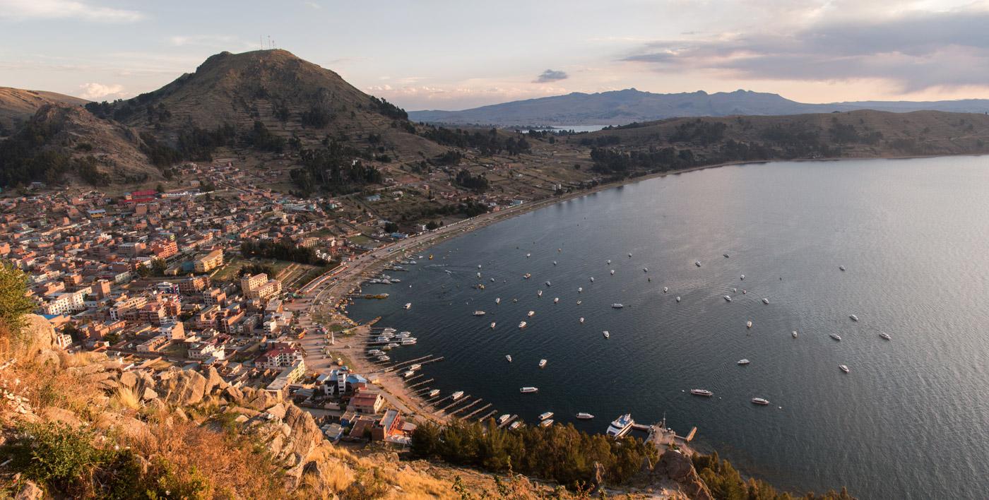 Sunset over Lake Titicaca, Copacabana