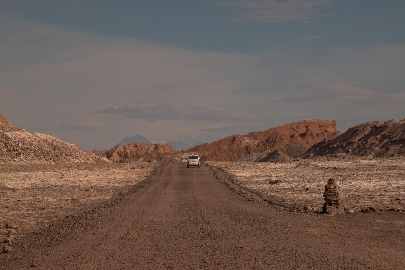 Driving through the Atacama desert