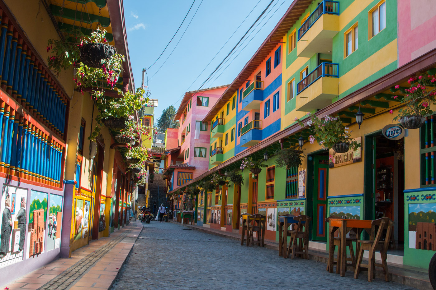 Colourful streets of Guatapé