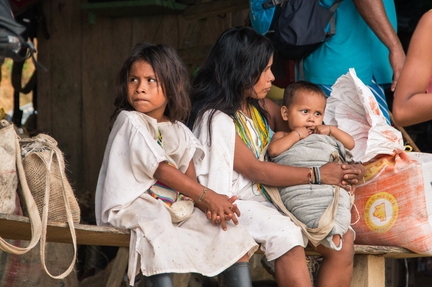 Local indigenous family on the Lost City Trek