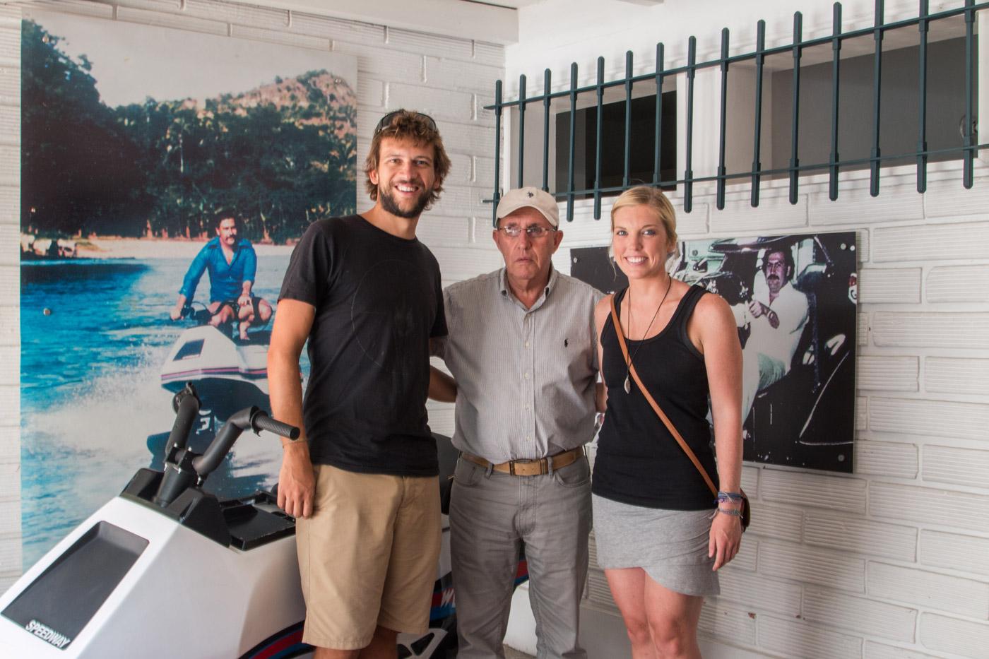 Lauren and I with Roberto Escobar