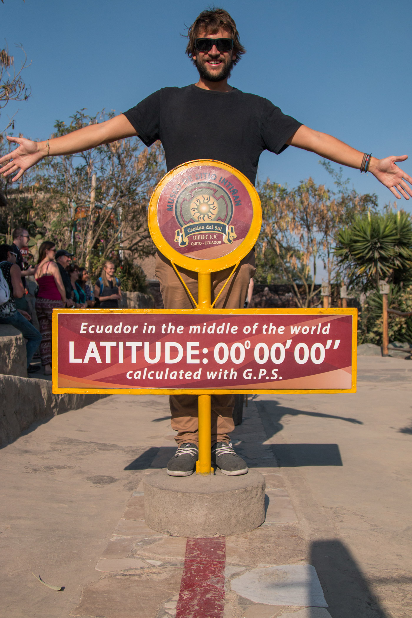 Standing in both the Northern and Southern Hemisphere. Latitude 0º 0' 0''