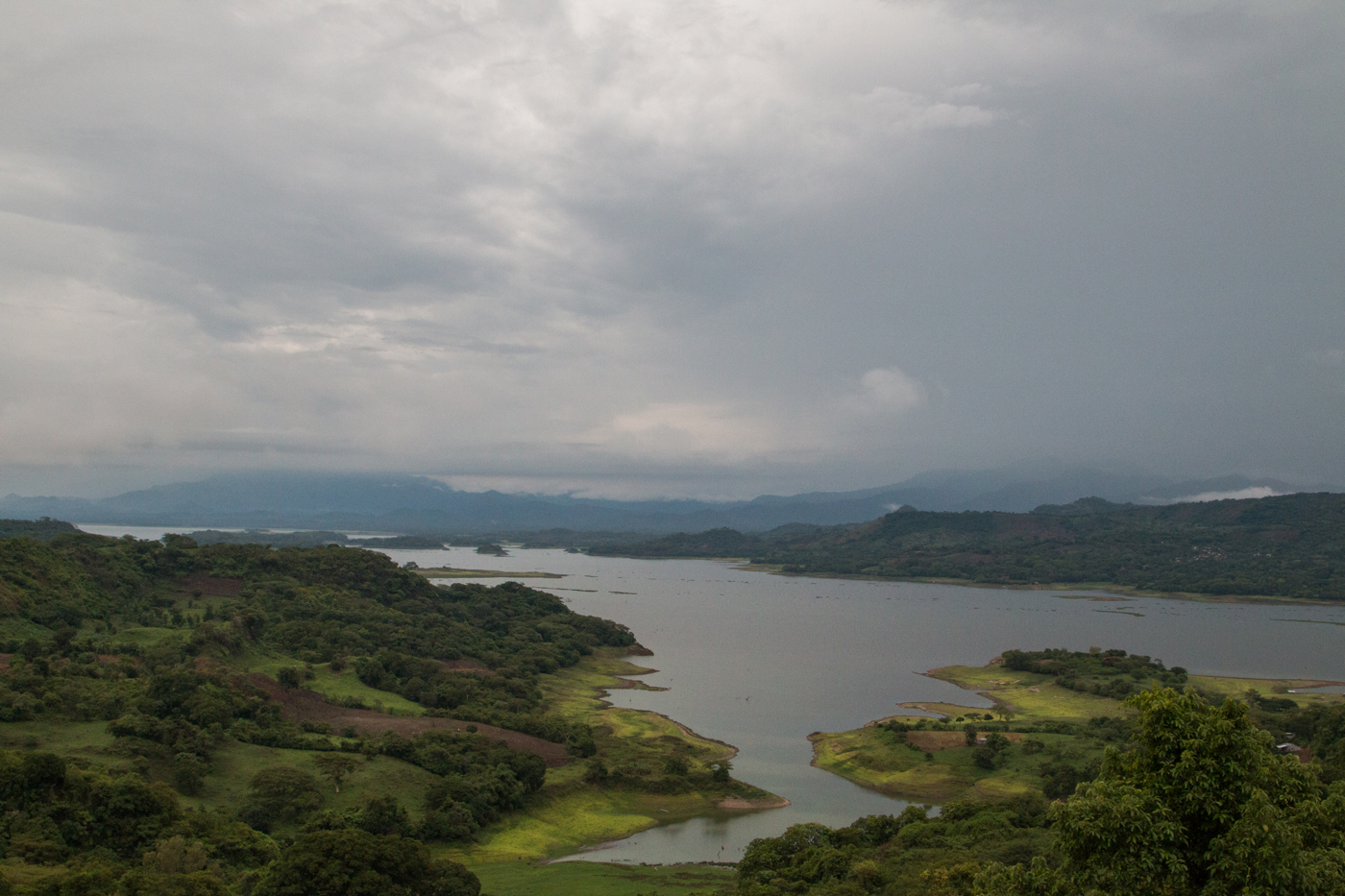 Suchitlán lake from our bedroom window