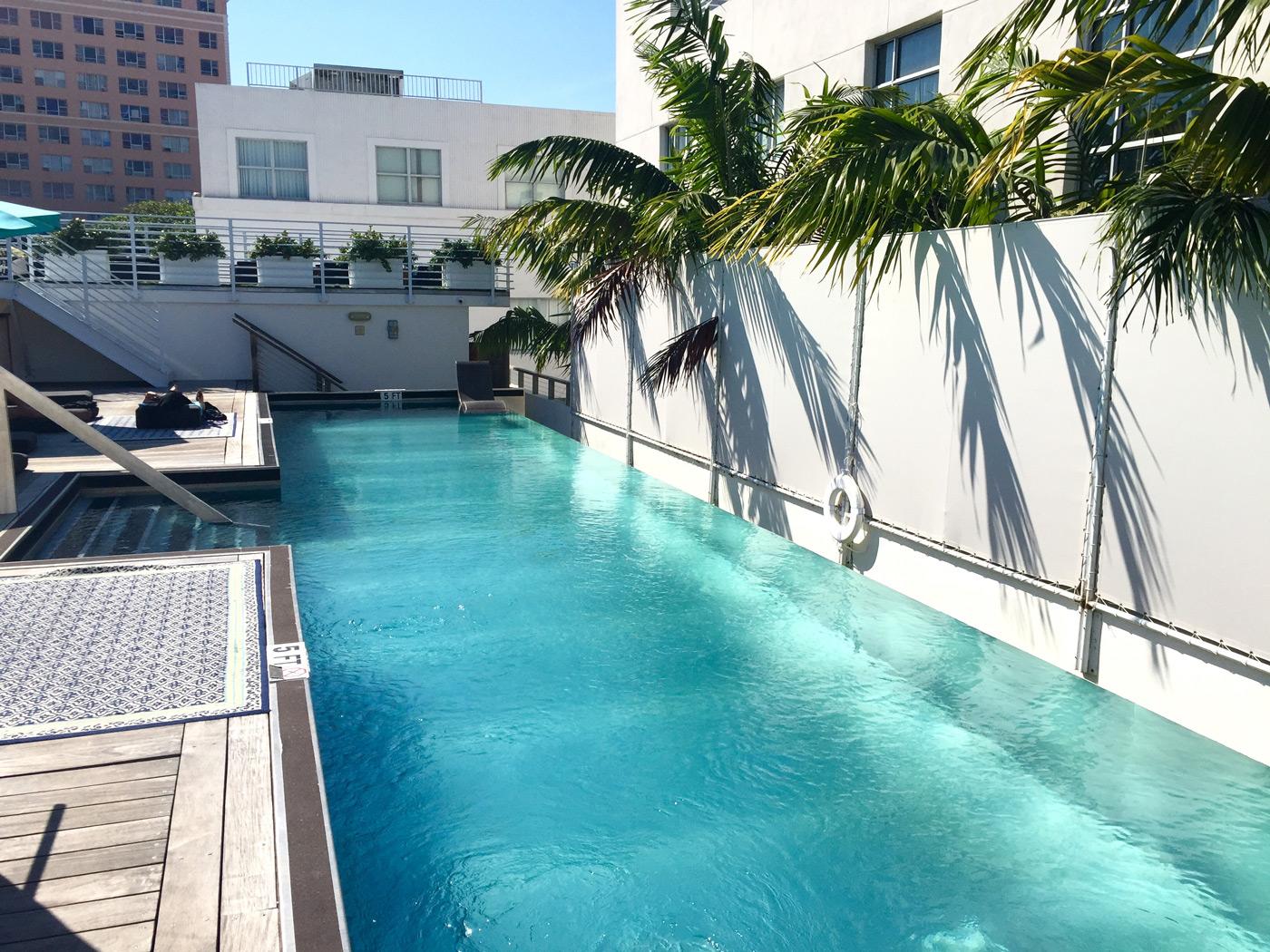 The hostel pool