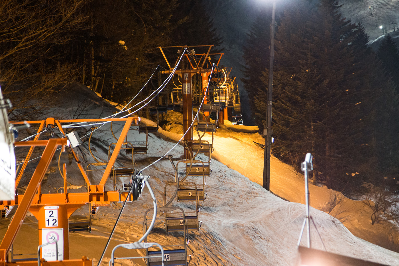 Chairlift by night