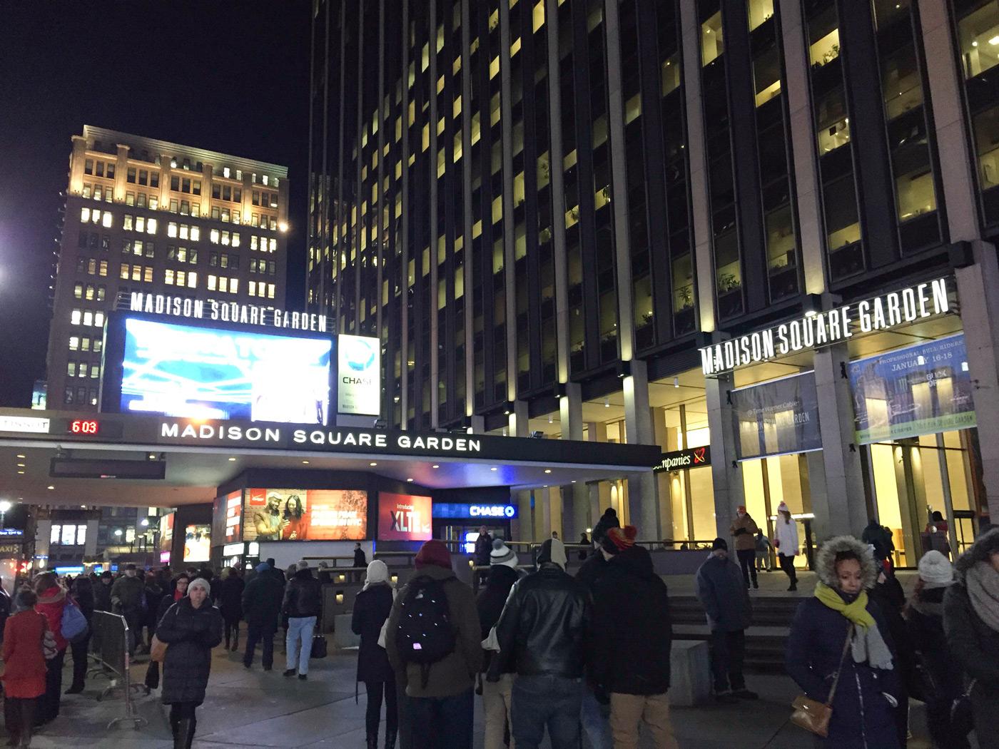 Heading into Madison Square Garden