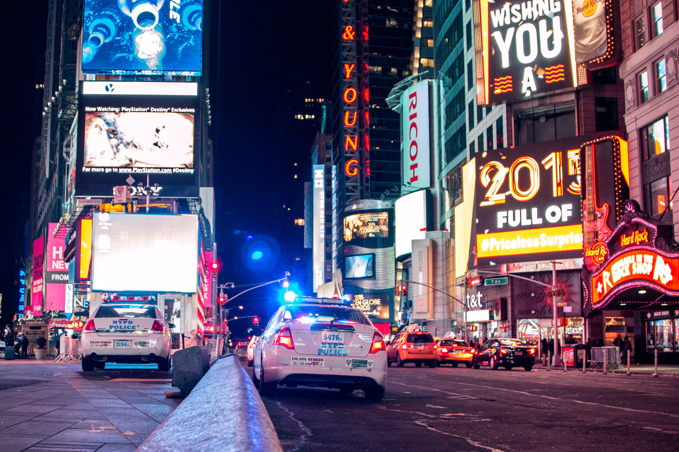 Plenty of police presence throughout NY