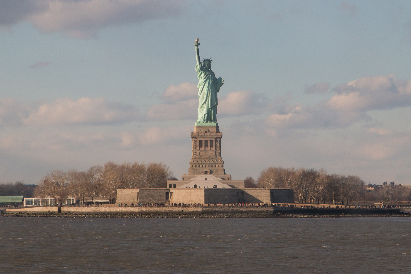 Statue of Liberty in the warm afternoon light