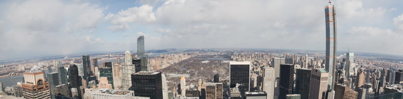 Looking north from the top of the Rockefeller