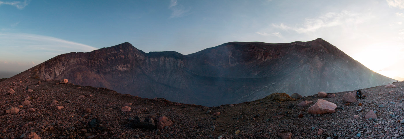 The top of Telica Volcano, 700m wide crater