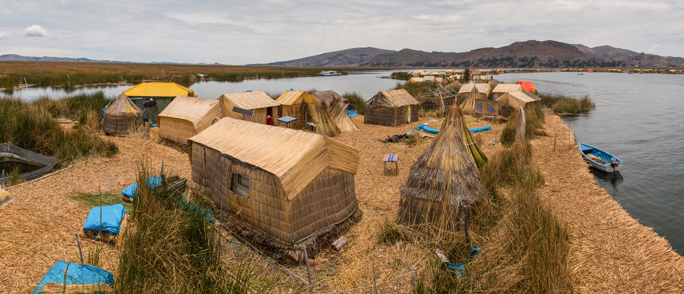 Our home for the night, Uros floating islands
