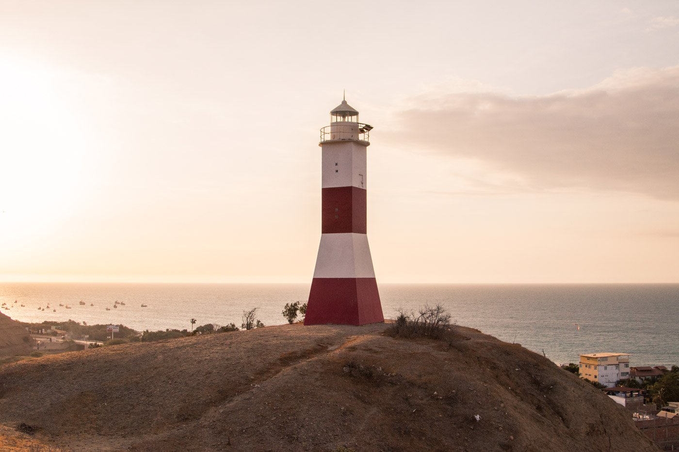 Watching the sunset from the lighthouse